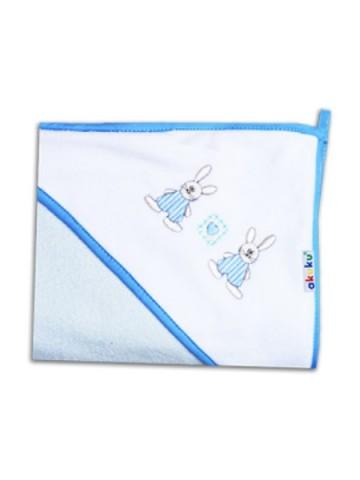 Detská osuška 80x80 Akuku modrá so zajačikmi
