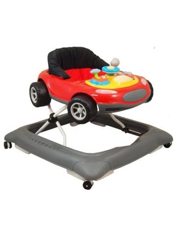 Dětské chodítko Baby Mix autíčko červené