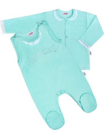 2-dielná bavlnená súprava New Baby Angel modrá