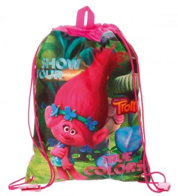 Taška na tělocvik a přezůvky Trollové Colors 40 cm