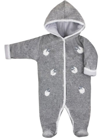 Zimní kojenecká kombinéza Bobas Fashion Ovečky šedá