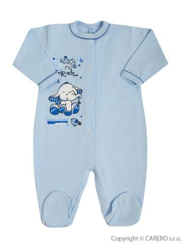 Dojčenský overal Bobas Fashion Benjamin modrý