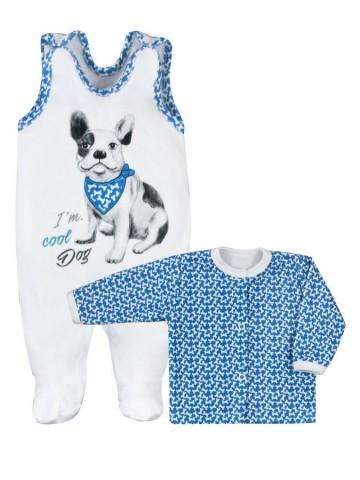 2-dielna kojenecká súprava Koala Cool Dog bielo-modrá