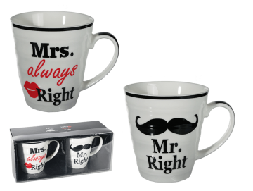 Sada hrnků Mr. & Mrs. right