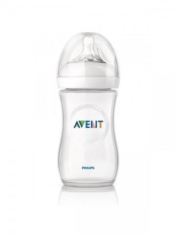 Dojčenská fľaša Avent Natural transparentná 330 ml