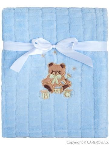 Detská deka Baby Mix Medvedík modrý