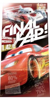 Fürdőlepedő Cars Final 70/140