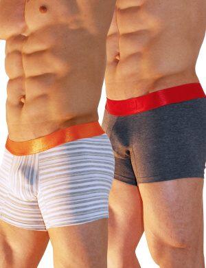 Pánské boxerky Xtremen 2 Pack-Cotton Boxer CH, Velikost oblečení L