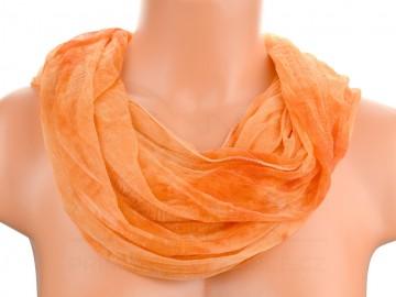 Šátek tunel batika - oranžový