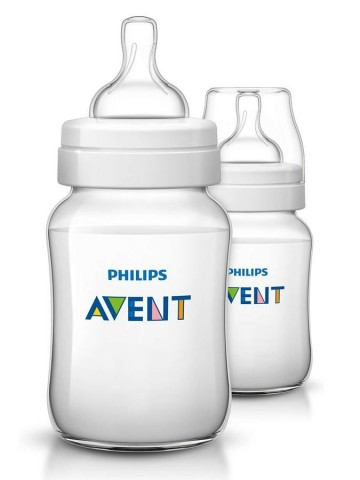 Dojčenská fľaša Avent Classic + 260 ml - 2ks