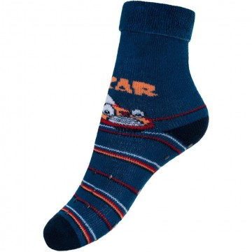 Dětské froté ponožky New Baby s ABS tmavě modré car
