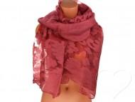 Dámský jednobarevný šátek - vínový