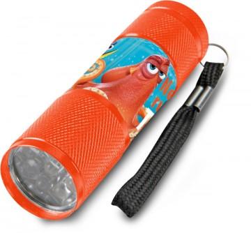 Dětská hliníková LED baterka Hledá se Dory Oranžová