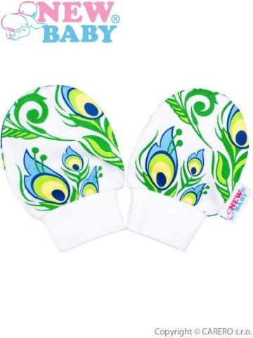Kojenecké bavlněné rukavičky New Baby z Luxusní kolekce Páv
