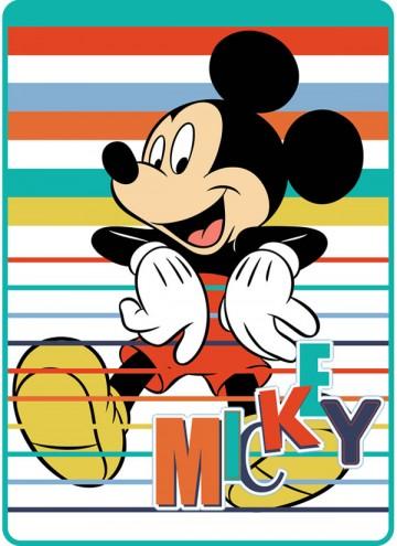Španělská deka Mickey proužky 100/140