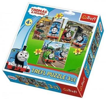 Puzzle Mašinka Tomáš 3v1