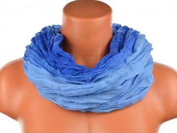 Dámský tunelový šátek v odstínech jedné barvy - modrý