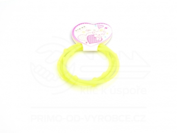 Gumové náramky srdíčka 4 ks - světle žluté