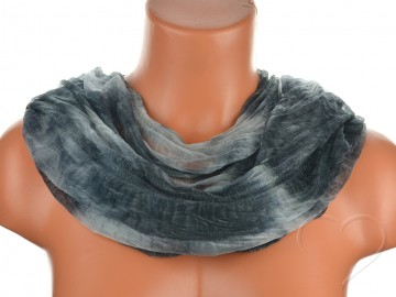 Dámský batikovaný tunelový šátek - černošedý