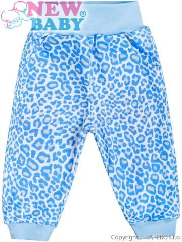 Kojenecké tepláčky New Baby Leopardík modré