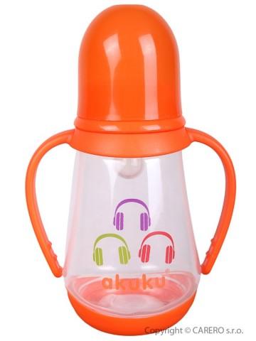 Fľaša s obrázkom Akuku 125 ml oranžová