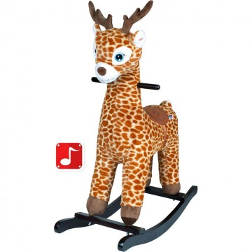 Houpací hračka PlayTo žirafa hnědá