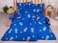 Sedmidílná sada hebkého povlečení se vzorem 140x200+70x90 - Blue Pineapple