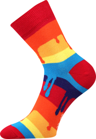 Ponožky Barvy - 1 pár, velikost 39-42