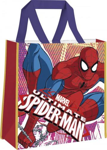 Dětská nákupní taška Spiderman modrá 38 cm