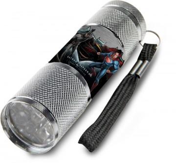 Dětská hliníková LED baterka Batman vs. Superman šedá