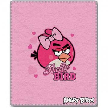 Fleece deka Angry Birds Pretty Bird 120/150