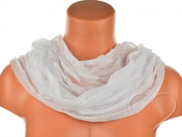 Dámský jednobarevný tunelový šátek - bílý