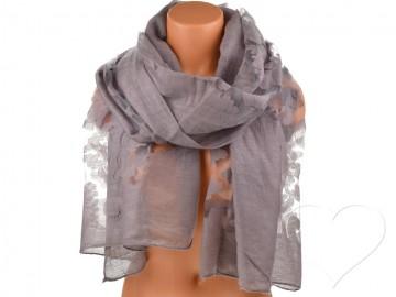 Eșarfă pentru femei de o culoare - gri/violet