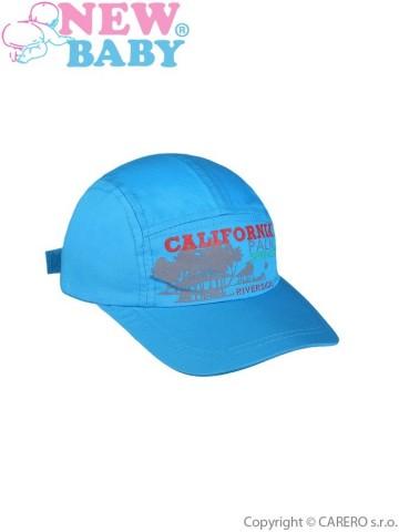 Letná detská šiltovka New Baby California modrá