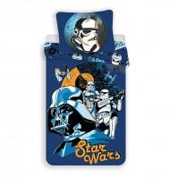 JERRY FABRICS Povlečení Star Wars blue Bavlna, 140/200, 70/90 cm