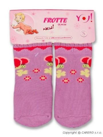 Froté ponožky fialové různé obrázky