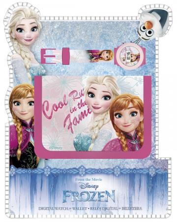 Dárková sada peněženka a hodinky Ledové Království Cool