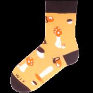 Ponožky - Houby - velikost 43-46