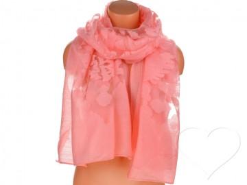 Dámský jednobarevný šátek - růžový