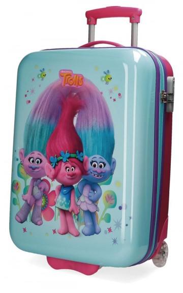 Cestovní kufr ABS Trollové blue 55 cm