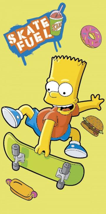 Osuška Bart Simpson skate žlutá 75/150