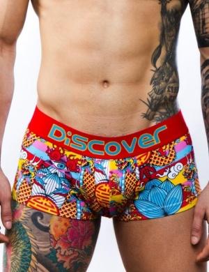 Boxeri din bumbac Discover Ni Hao, 1 perechi, mărimea S