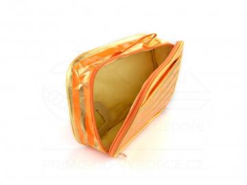 Kosmetická taška zlatoneonová - oranžová