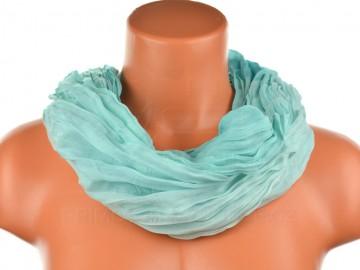 Dámský tunelový šátek v odstínech jedné barvy - zelenomodrý