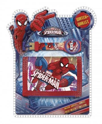 Dárková sada peněženka a hodinky Spiderman