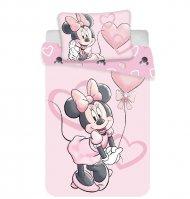 JERRY FABRICS Povlečení do postýlky Minnie Pink Heart baby Bavlna, 100/135, 40/60 cm