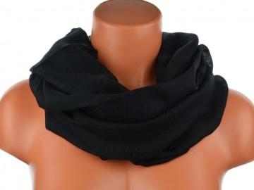 Dámský jednobarevný tunelový šátek - černý
