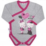 Dětské body s bočním zapínáním New Baby Love Mouse