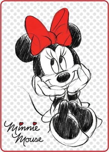 Španělská deka Minnie černobílá 80/110