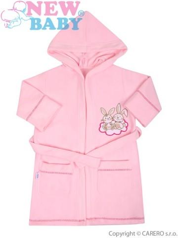 Detský župan New Baby Bunnies ružový
